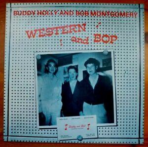 "Buddy Holly Bob Montgomery Western & Bop 12"" Vinyl LP MCA Records CDLM8055 NM/NM"