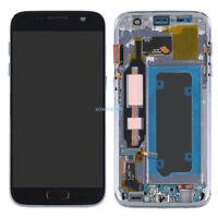 Lcd Display Touch Screen Schermo Vetro+Telaio Per Samsung Galaxy S7 G930F Nero