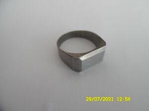 Siegelring ohne Gravur - Edelstahl - Einzelstück - Handgefertigt Ø 19,3mm