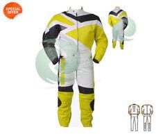 Blousons jaunes en cuir de vache pour motocyclette