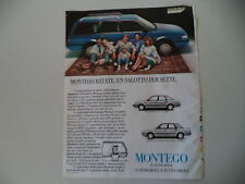 advertising Pubblicità 1986 AUSTIN ROVER MONTEGO ESTATE