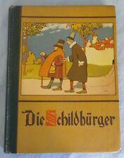 Uralt Buch Die Schildbürger Till Eulenspiegel Jugendstil um 1910 Stuttgart