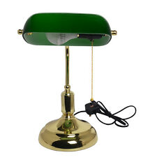 Bankers Lamp Green VINTAGE ANTIQUE Advocate Table Desk Lamps E27 5W LED Bulbs