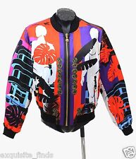 SOLS OUT!!! $3295 BRAND NEW VERSACE CUBA PRINT RED JACKET 54 - 44 - XXL