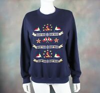 Vintage Alfred Dunner Women's Sweatshirt Size S Retro 90s Nautical Anchor Top