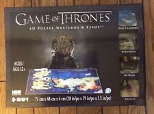 New Sealed Game of Thrones Westeros & Essos 4D Puzzle, 891 Piece Set with Poster