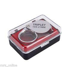 Mini Lente di ingrandimento Triplet Professionale 10x21 mm in Acciaio lavoro rip