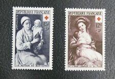 TIMBRES DE FRANCE : N° 966 / 967 * AVEC TRACE DE CHARNIERE - CROIX ROUGE 1953