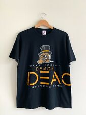 Vintage 90s Wake Forest Demon Deacons Graphic Double Sided Shirt Sz Large Jerzee