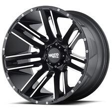 """20"""" 20x10 Moto Metal MO978 Razor Black Wheels Rims 8x6.5 8 Lug Chevy Dodge RAM"""