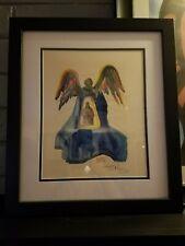 "Salvador Dali SIGNED ORIGINAL framed woodcut ""Dante Purified"" JSA Certified"
