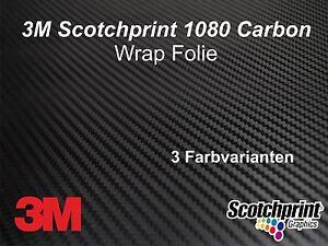 3M Scotchprint 1080 Autofolie Carbon Fiber Black  2 Stk. 35 x 25 cm Spiegel Kit