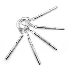 5 x 3in1 Brillen Schraubendreher Uhr Reparatur Kit mit-Schlüsselanhänger-Set
