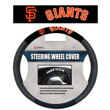 MLB POLY-SUEDE MESH STEERING WHEEL COVER SAN FRANCISCO GIANTS