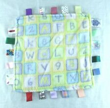 Little Taggie Taggies Alphabet ABCs Letters Numbers Yellow Lovey