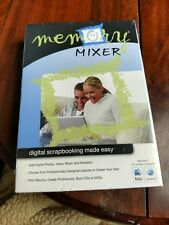 Memory Mixer Digital Scrapbooking Software Version 2 Mac Pc 2000/ Xp/Vista New