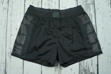 New Runway Alexander Wang x H&M Black Perforated Shorts Sport Logo Gym US6 EUR36
