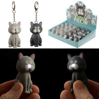 Novelty Cute LED Light Meowing Sound Cat Keyring Party Bag Stocking Filler Gift