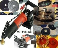 """1 1/2"""" Full Bullnose 40mm Router Bit Wet Polisher Pad Buff Cup Granite concrete"""