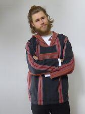 Vintage retro 90s unused S hand loomed cotton hoodie jacket NOS as new
