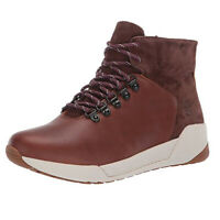 Timberland Women's Kiri Up Waterproof Brown Leather Mid Hiker Boots A1ZGJ