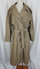 Vintage London Towne Limits Long Belted Cape Top Classic Trench Coat Womens 14R