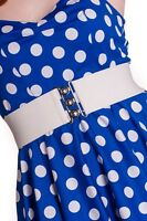 HELL BUNNY Retro 50s Waist BELT Rockabilly Elasticated White All Sizes