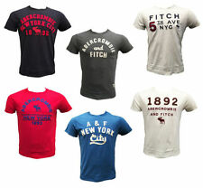 Abercrombie & Fitch Cotton No Pattern Basic T-Shirts for Men