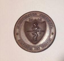 1906 Antique Bronze? Copper? Round MEDALLION HIGHGATE SCHOOL 3rd Prize engraved