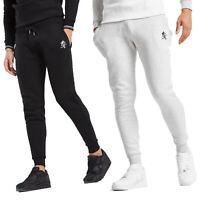 Gym King Newton Black Cotton Fleece Joggers Jogging Tracksuit Bottoms Pants