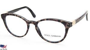 NEW D&G Dolce & Gabbana DG3268 1995 LEOPRINT EYEGLASSES FRAME 50-18-140mm Italy