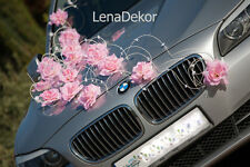 wedding car decoration, ribbon , bows, prom limusine decoration, LAURA l pink