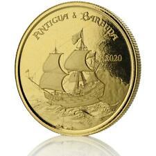 2020 1 Oz Antigua E Barbuda Rum Runner. 9999 Moeda De Ouro Em Certi-Lock #A452