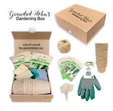 Personalised small mens gardening gift box christmas dad grandad garden gift