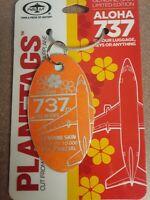 Boeing 737 Aloha Orange / Lufthansa Aircraft SkinPlane Tag / Planetags