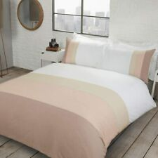 Colour Block Bedding - Reversible Soft Duvet Cover and Pillowcase Set