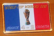 Los ganadores de la Copa Mundial de Francia 2018 Coupe du Monde Fútbol Bandera FRIDGE MAGNET
