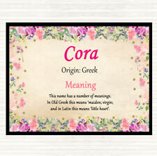 Cora Name Meaning Dinner Table Placemat Floral