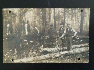 Antique Michigan Lumberjacks Logging Tools Louis Sands Camp #15 Thompsonville MI