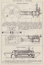 C2811 Macchine a vapore - Stampa d'epoca - 1936 vintage print