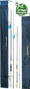 2x Spinning Rods Perch Pike Bass Carbon Fibre Cork Light Medium 2-8g 10-30g Bait
