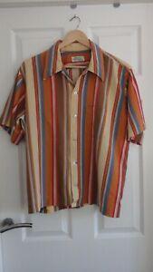 Men's 50's original short sleeve shirt size XL Vintage rockabilly