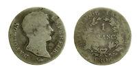 s53_3) Napoléon Empereur - 1 franc argent 1806 A - Paris