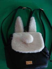 BETSY JOHNSON BACKPACK BUNNY RABBIT BUNNY EARS AND FURRY TAIL NEW