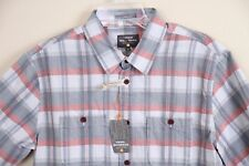 NEW Quiksilver Mens Waterman Collection Tailored Fit SS Casual Shirt Plaid Small