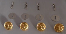 4 STAR OF LIFE EMS Emergency Medical Service uniform buttons small polished GOLD