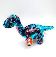 "6"" Ty Beanie Boos Flippables Sequin Stuffed Plush Kids Toys Dinosaur Soft Doll"