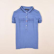 Napapijri Damen Polo Poloshirt Shirt Gr.S (DE 36) Geographic Blau 79030
