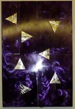 De esta manera para púrpura arte para pared de metal escultura Panel De Acero Moderno mano hecha a mano
