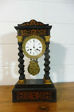 Antique French Empire Mantel Clock Column Table Clock